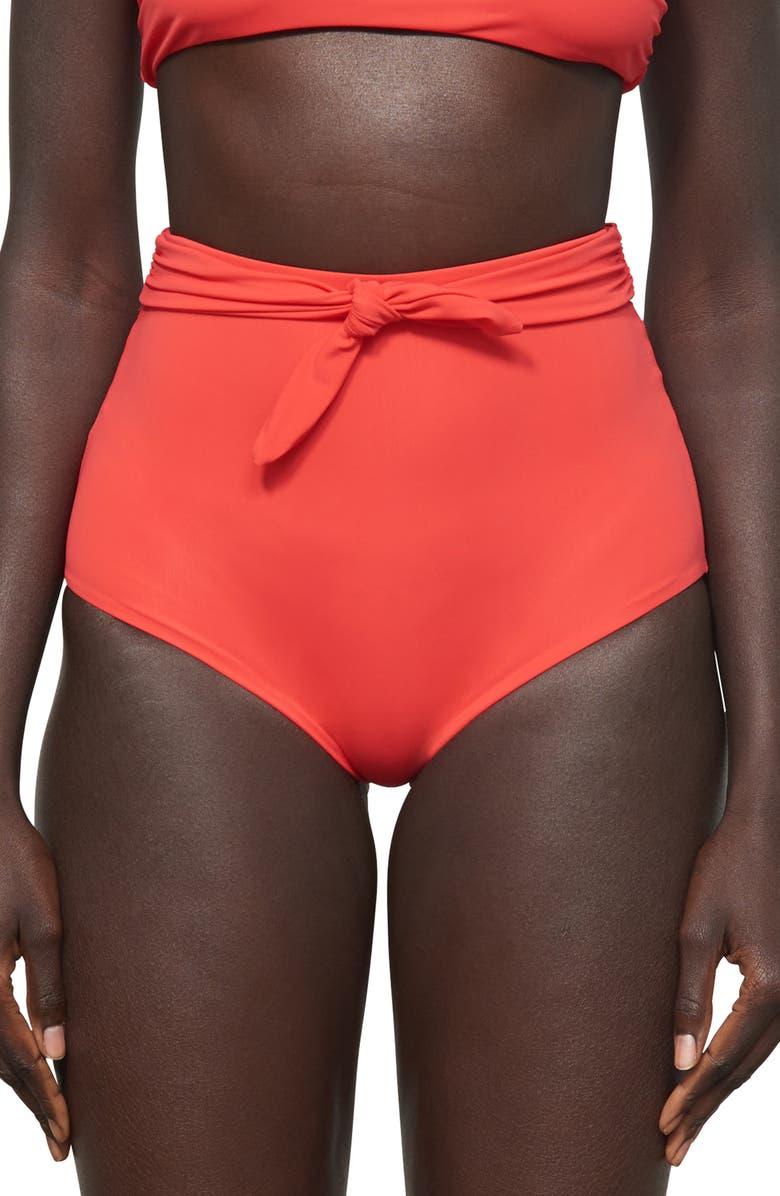MARA HOFFMAN Jay High Waist Bikini Bottoms, Main, color, VITALITY