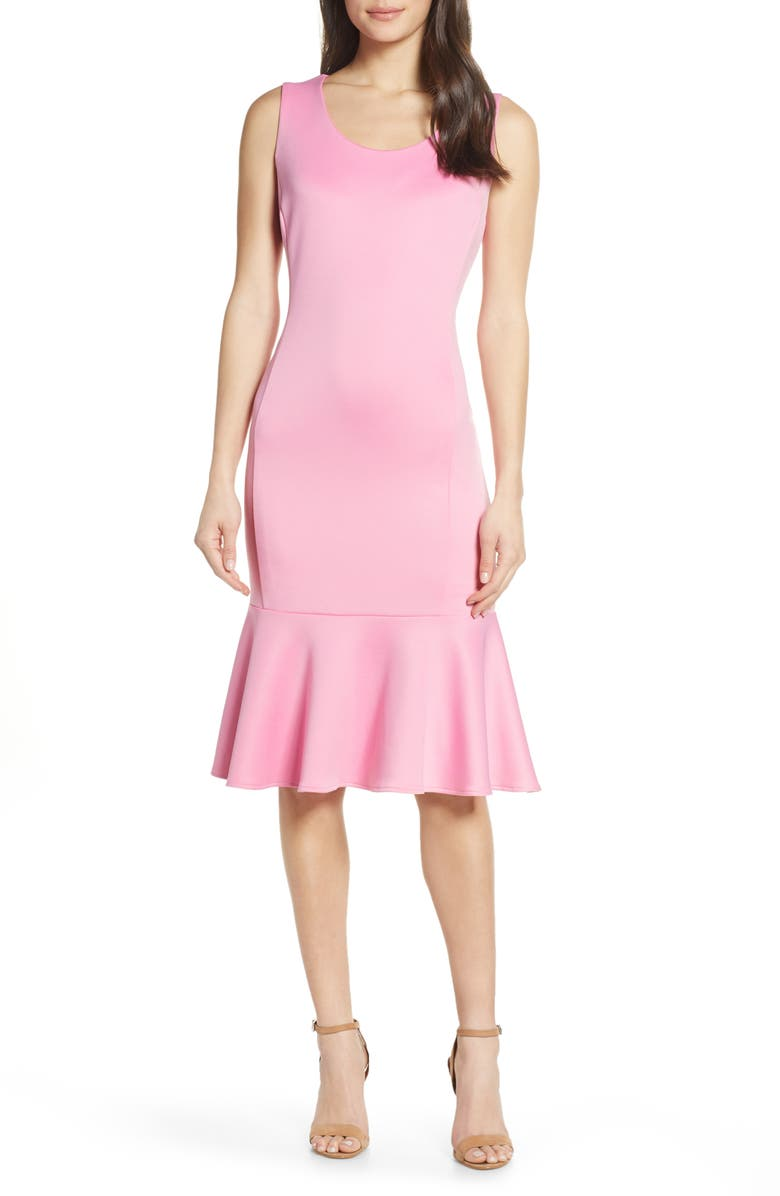 FOREST LILY Scuba Dress, Main, color, PINK
