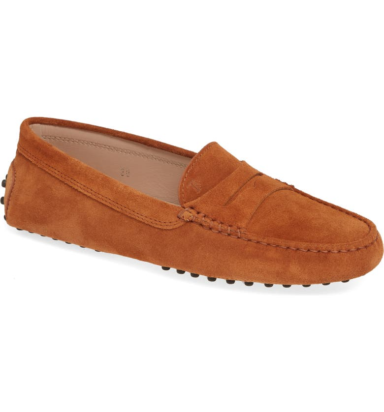 TOD'S Gommini Driving Moccasin, Main, color, COGNAC