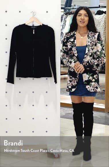Sculpted Milano Knit Jacket, sales video thumbnail