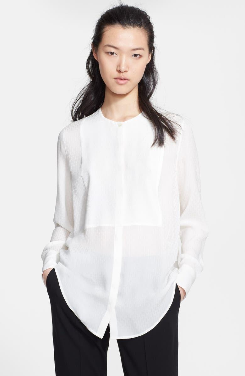 ETRO Textured Silk Tunic Blouse, Main, color, 100
