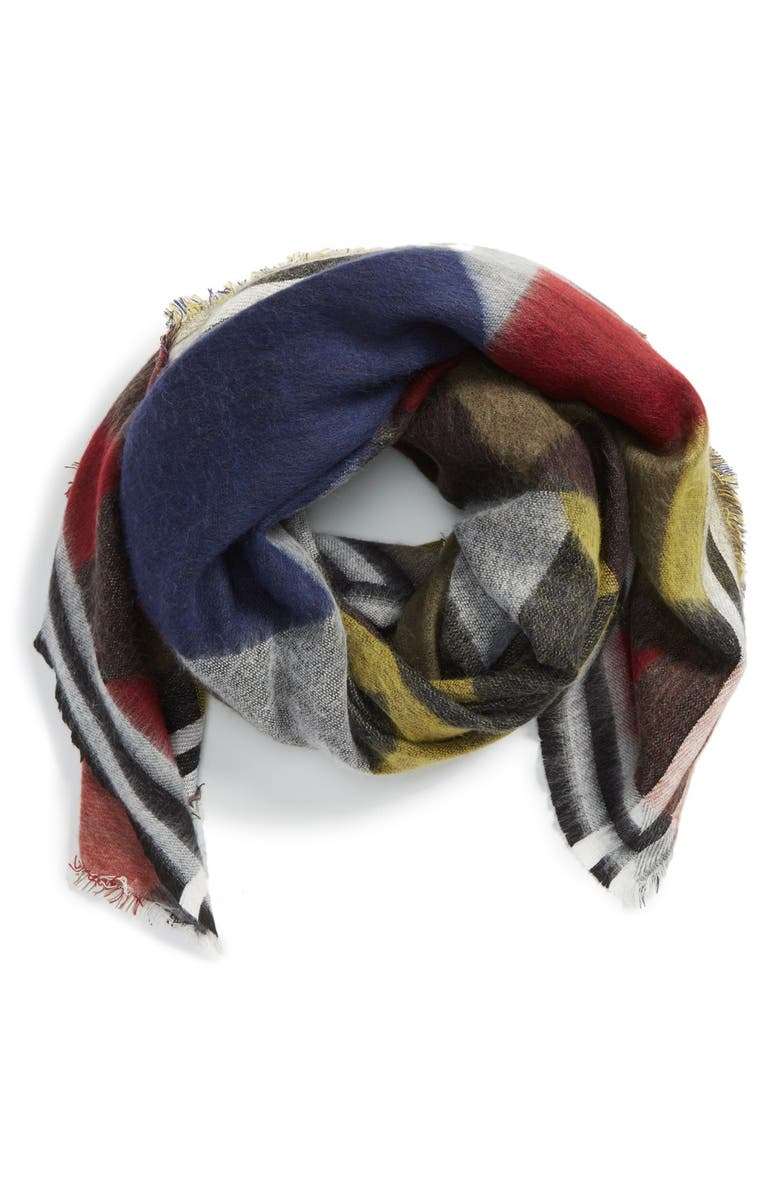 SHIRALEAH 'Milan' GeometricOversizeScarf, Main, color, 010