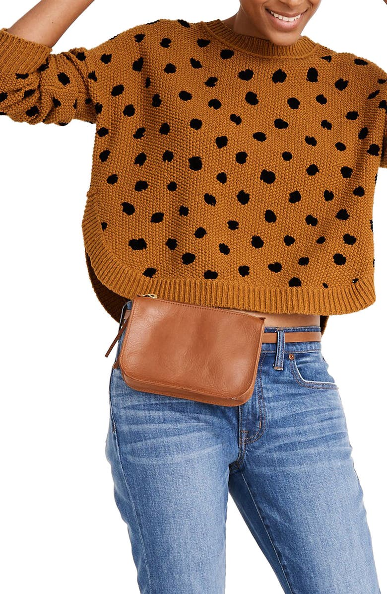 MADEWELL Painted Spots Pullover Sweater, Main, color, 200