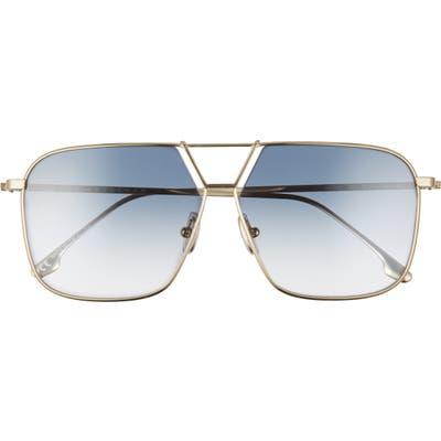 Victoria Beckham 60mm Gradient Aviator Sunglasses - Gold/ Azure