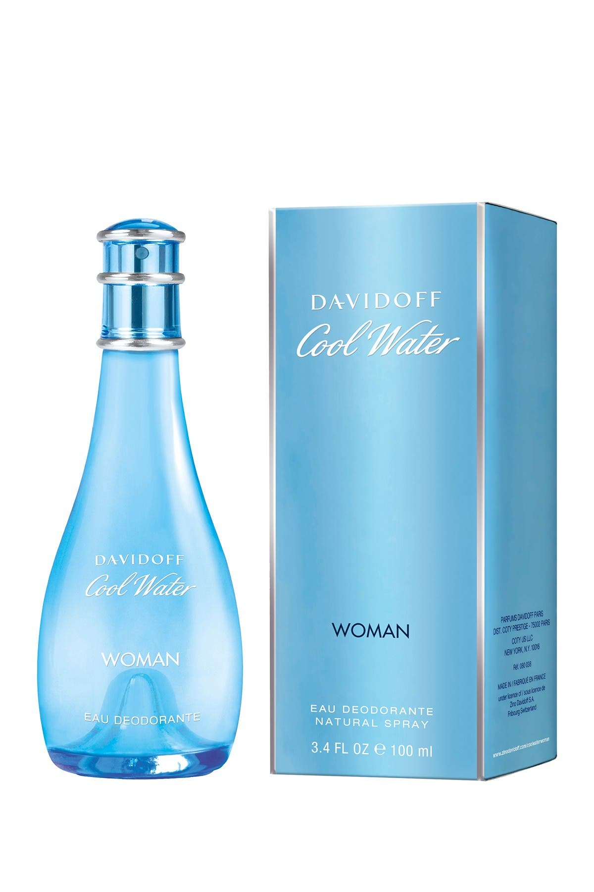 Image of Davidoff Cool Water Women Deodorant Spray - 3.4 Oz
