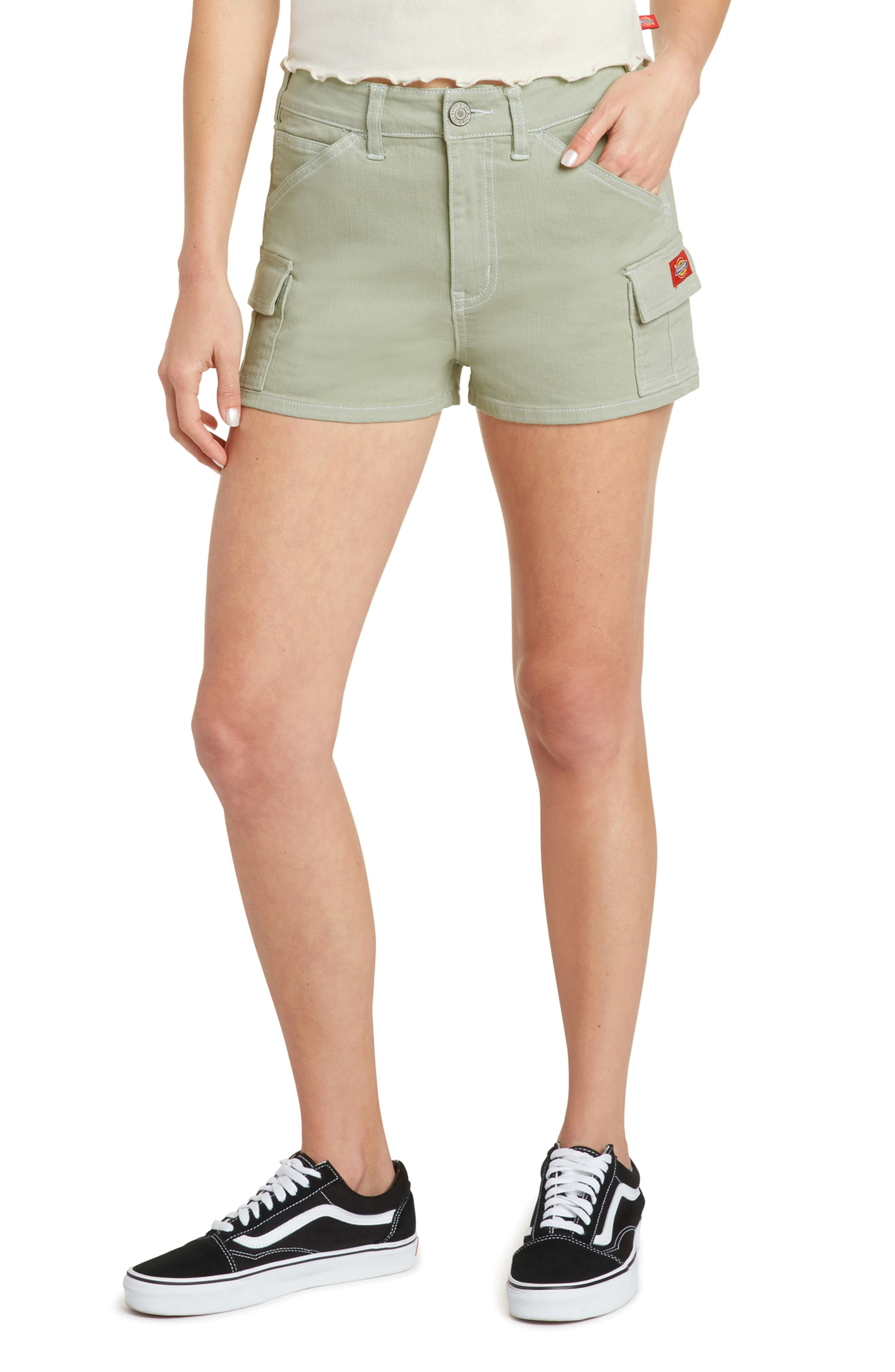 High Waist Cargo Shorts