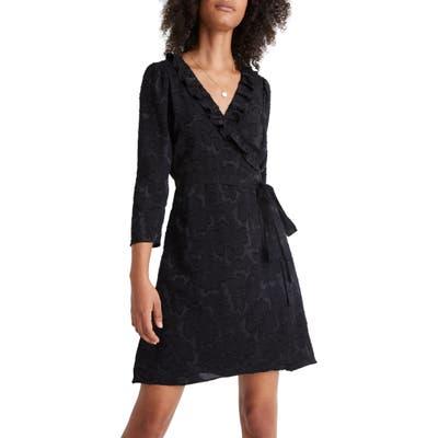 Madewell Ruffled Wrap Dress, Black