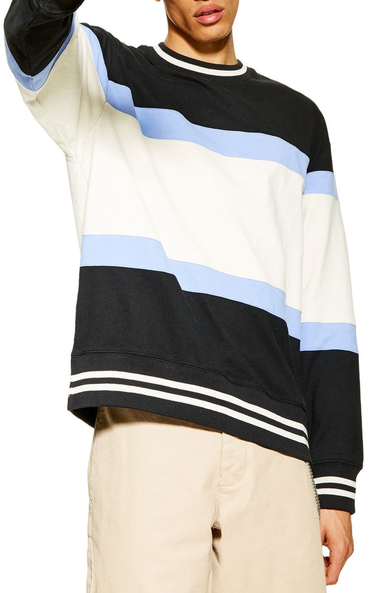 Max Stripe Sweatshirt by Topman