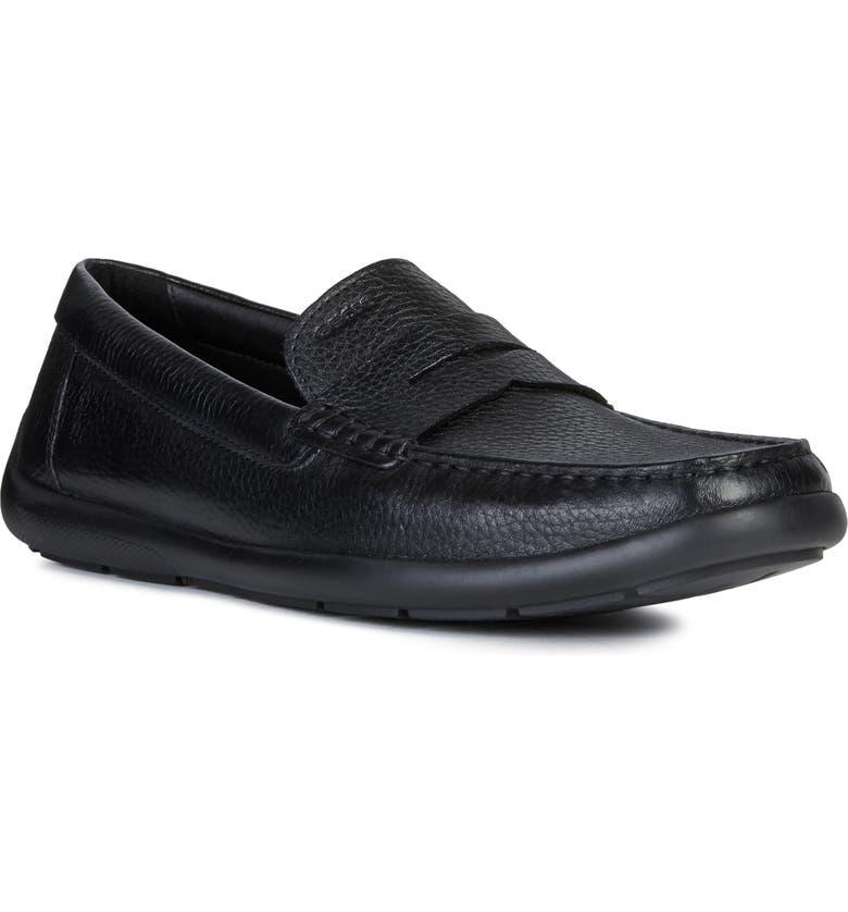 GEOX Devan 2 Driving Shoe, Main, color, BLACK