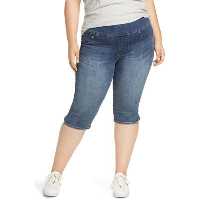 Plus Size Seven7 Pull-On Capri Jeans, Blue