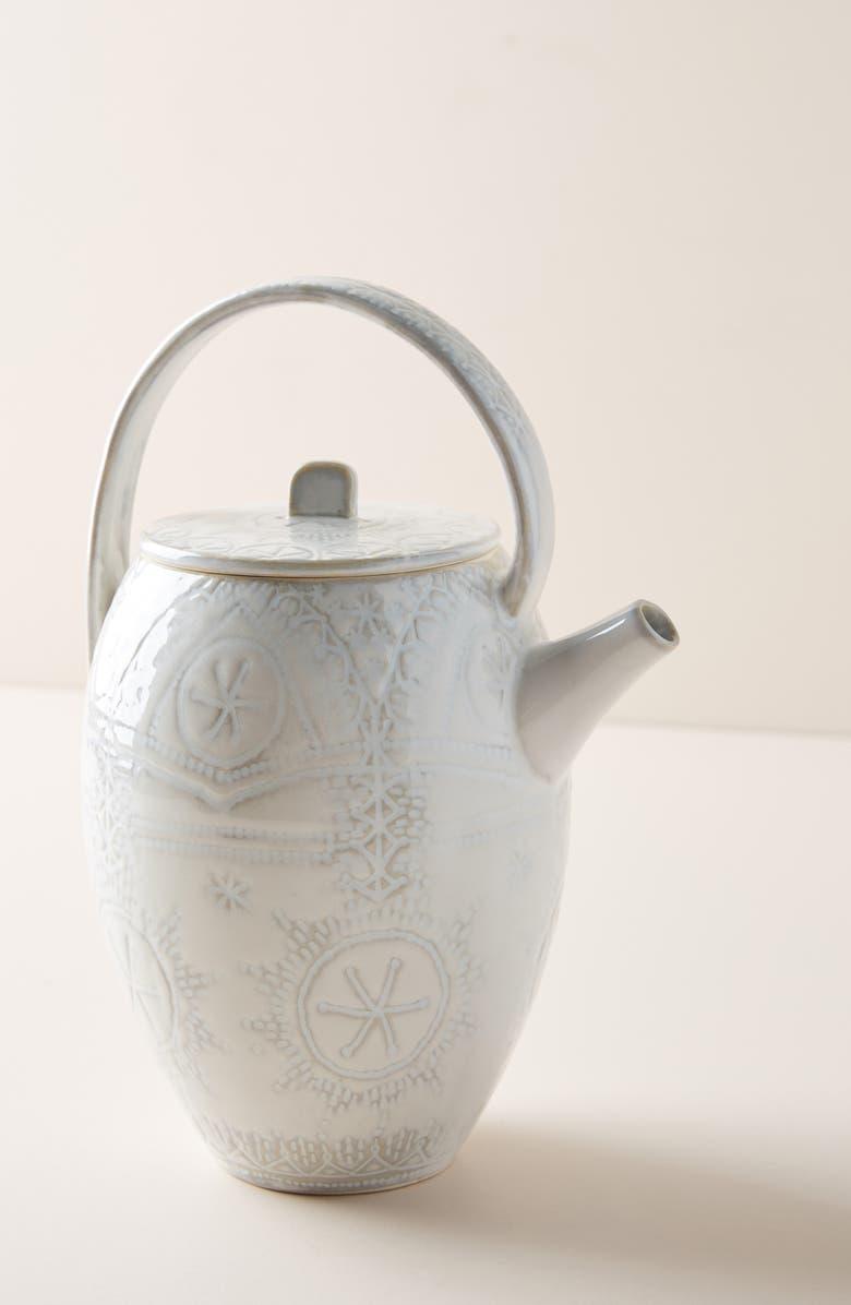 ANTHROPOLOGIE Uret Teapot, Main, color, 422