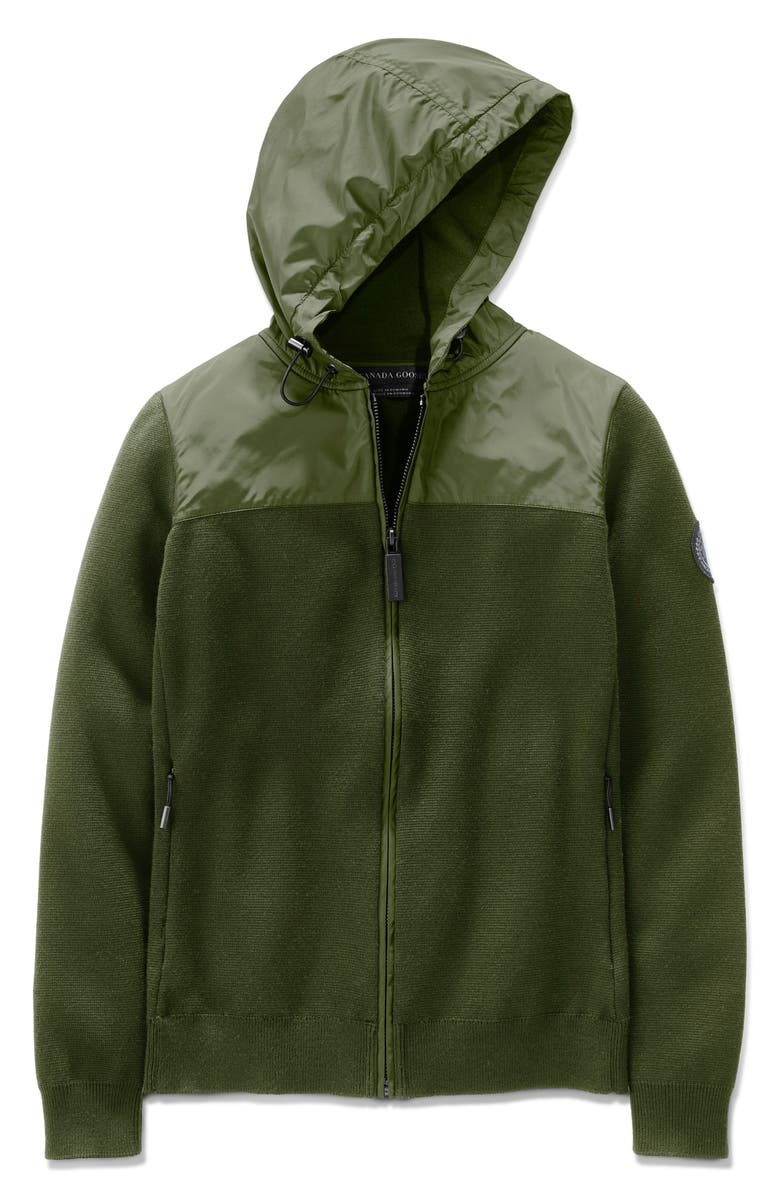 CANADA GOOSE Windbridge Hooded Sweater Jacket, Main, color, DARK SAGE