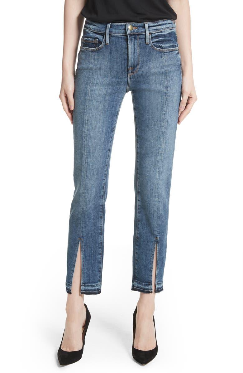 FRAME Le Nouveau Split Hem Jeans, Main, color, 421