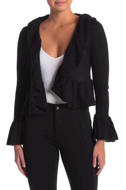 Image of NANETTE nanette lepore Ruffle Open Front Knit Cardigan