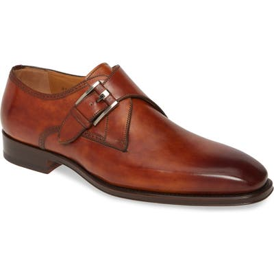 Magnanni Marco Ii Monk Strap Shoe, Brown