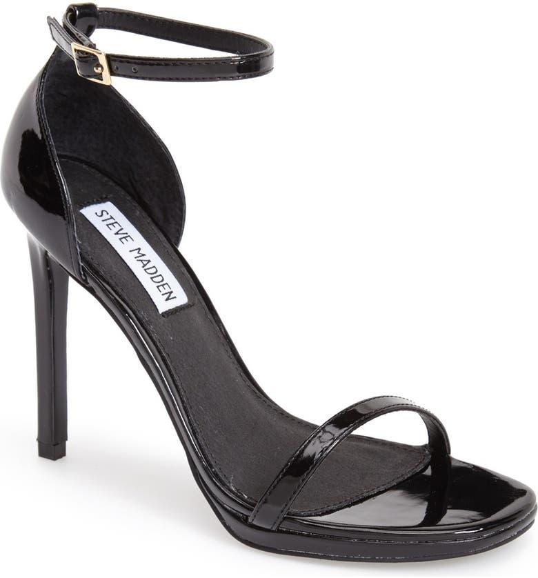 STEVE MADDEN 'Gea' Ankle Strap Sandal, Main, color, 008