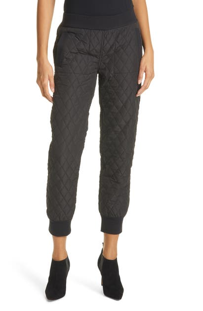 Norma Kamali QUILTED JOGGERS