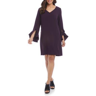 Karen Kane Ruffle Sleeve Dress, Purple