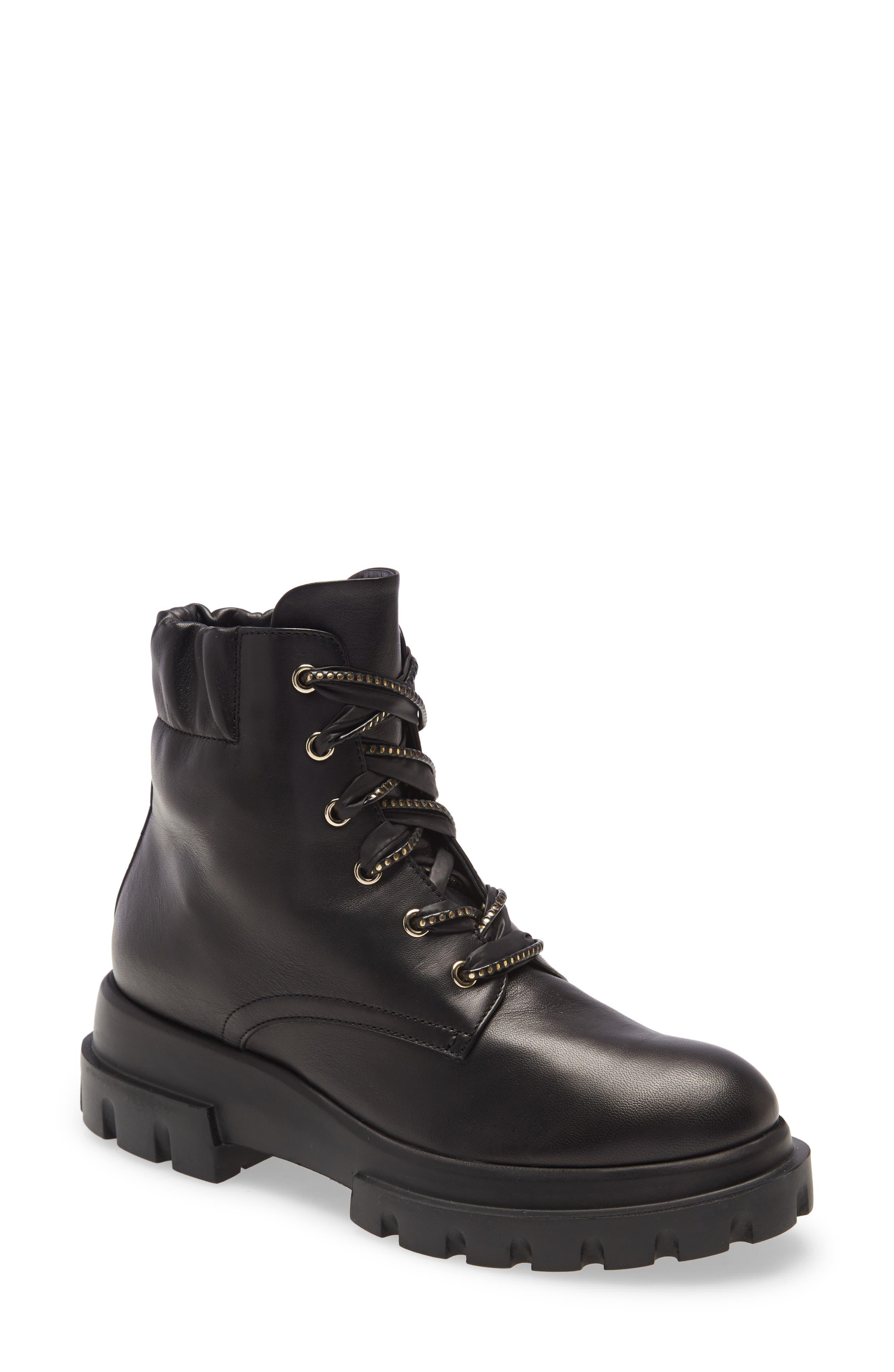 Women s Agl Scrunch Collar Combat Boot E5475