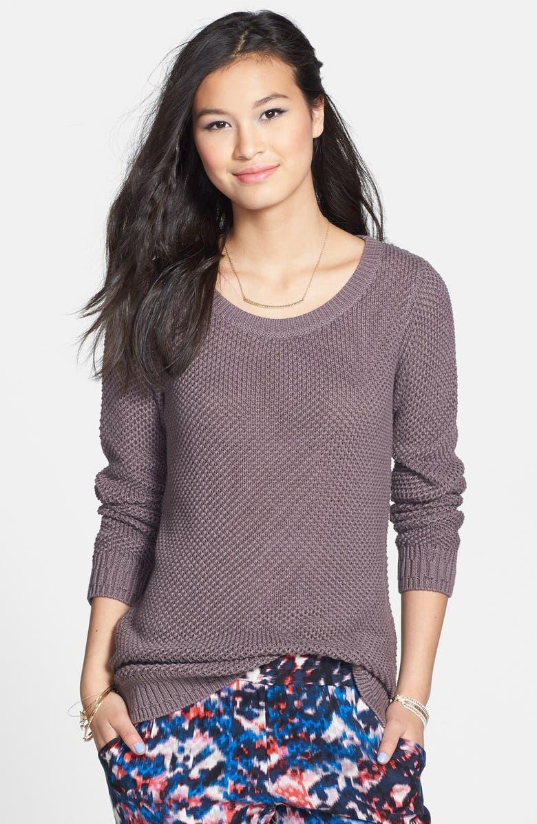 BP. Textured Cotton Crewneck Sweater, Main, color, 030