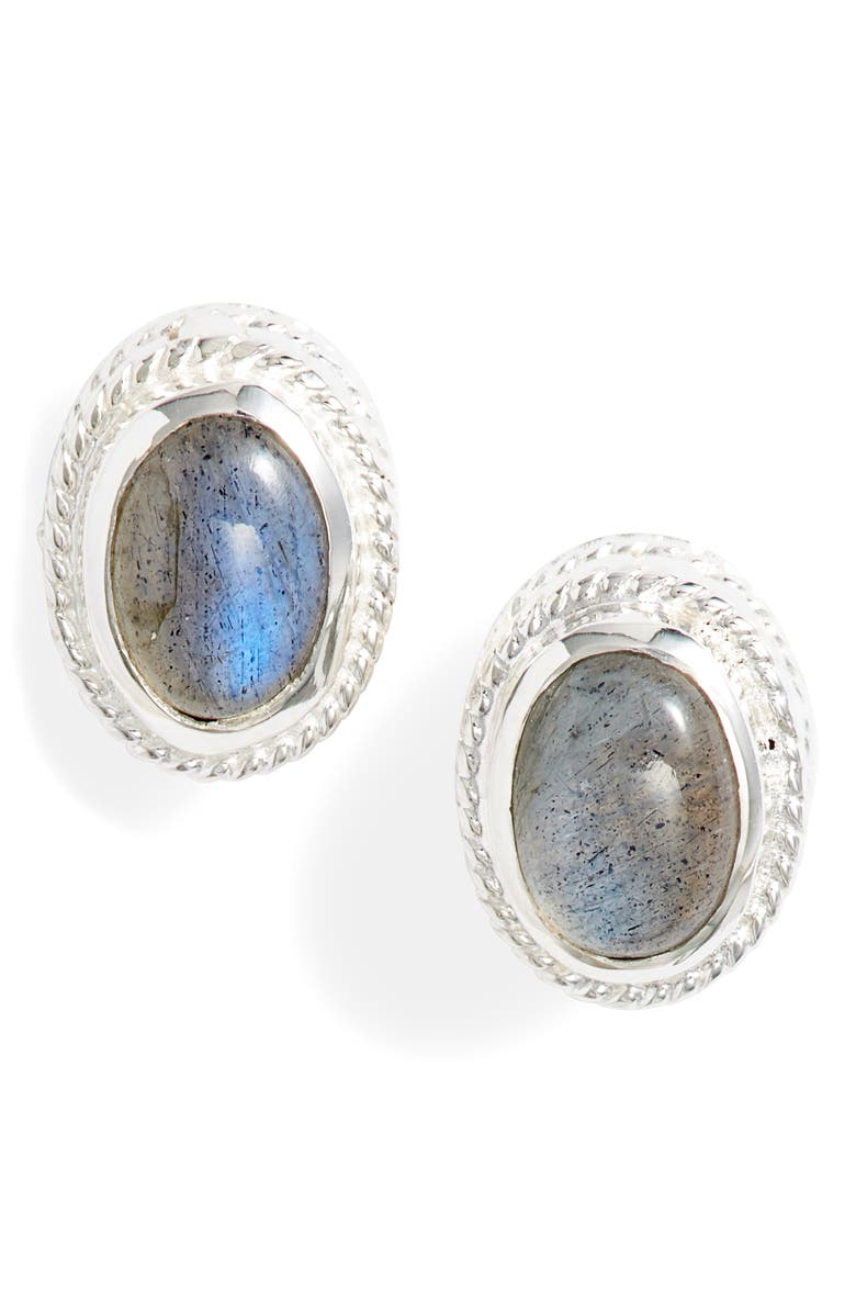 ANNA BECK Labradorite Stud Earrings, Main, color, 020