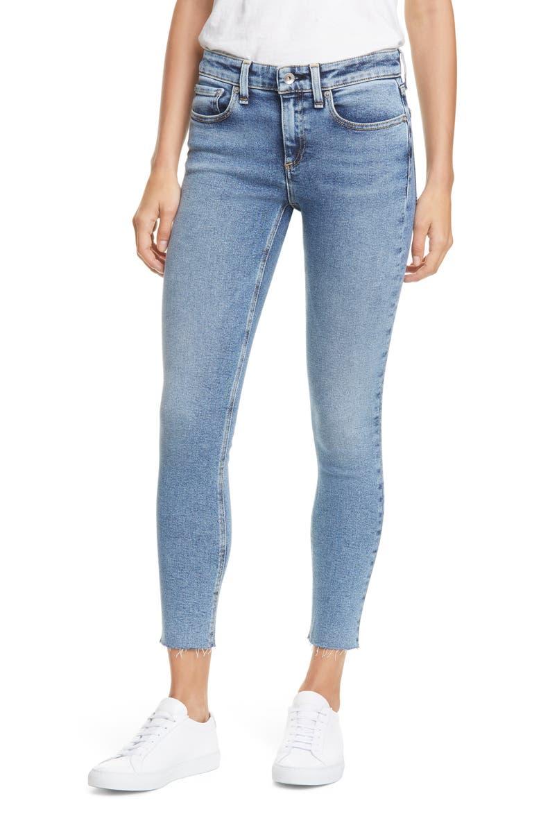RAG & BONE Cate Raw Hem Ankle Skinny Jeans, Main, color, MORGAN