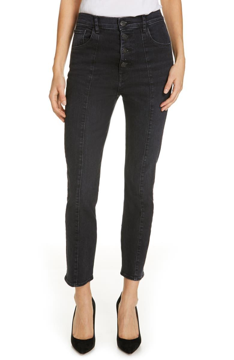 3X1 NYC Jackie Slim Jeans, Main, color, GRAYSON