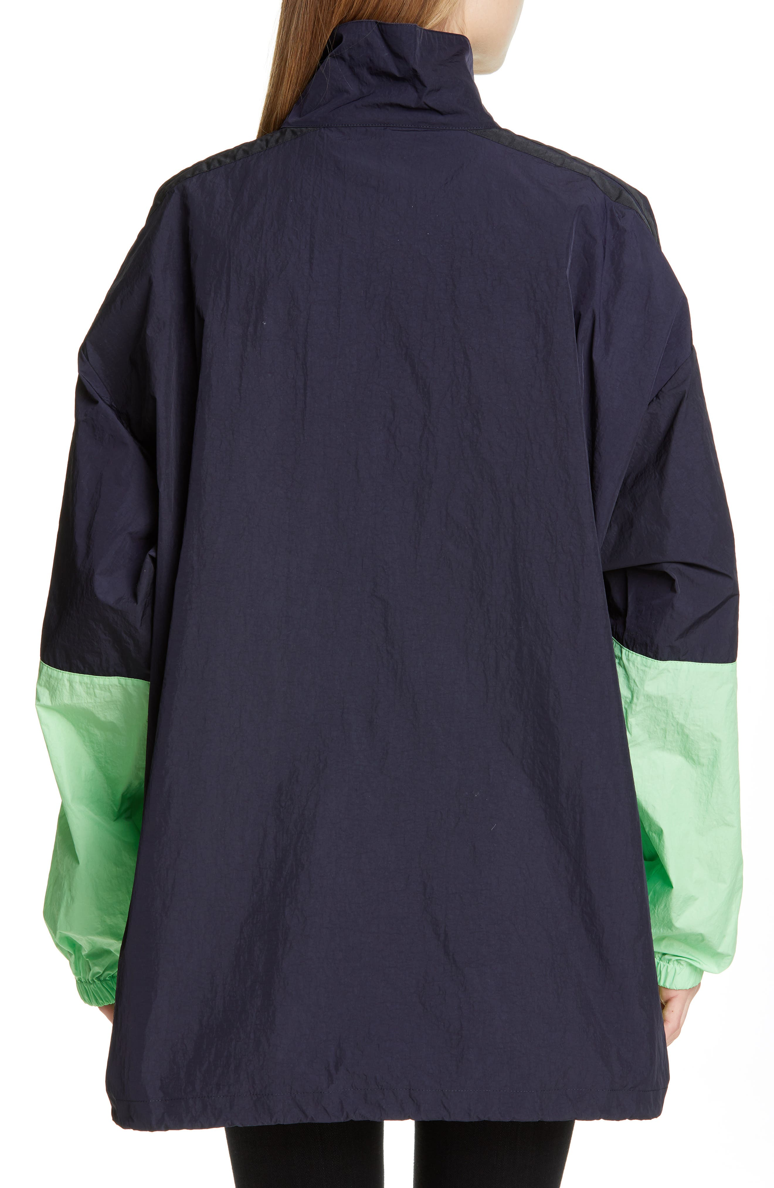 ,                             Logo Colorblock Windbreaker Jacket,                             Alternate thumbnail 2, color,                             FLUO GREEN