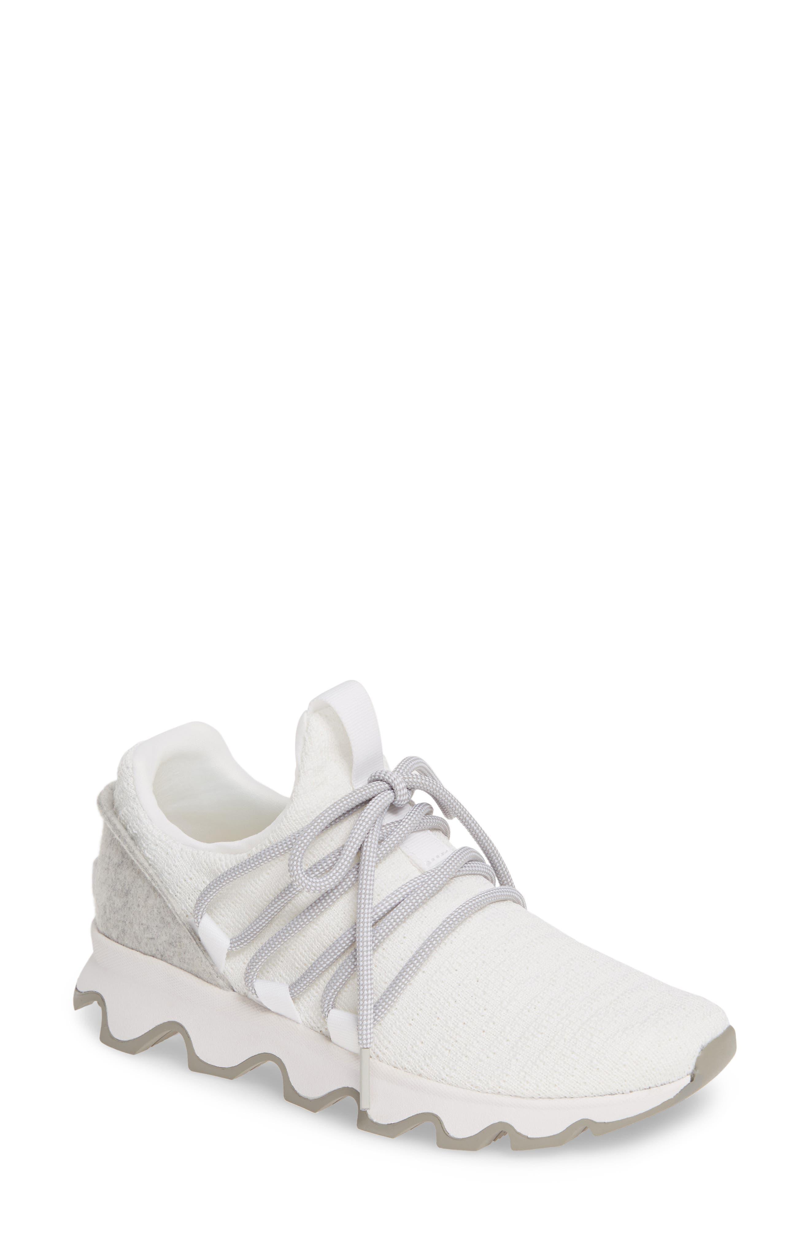 Sorel Kinetic Lace Knit Sneaker, White