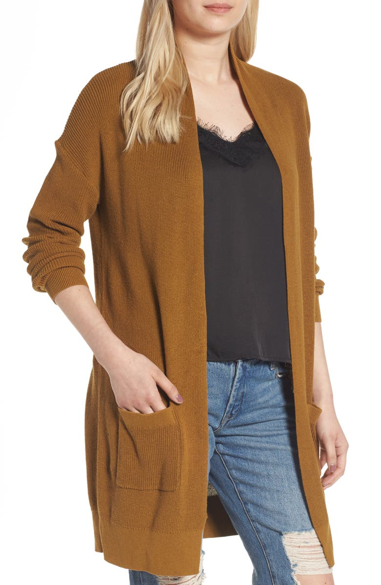 BP. Lightweight Rib Stitch Cardigan, Main, color, 211