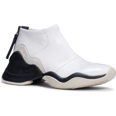 Fendi Technice Mid Top Sneaker, White