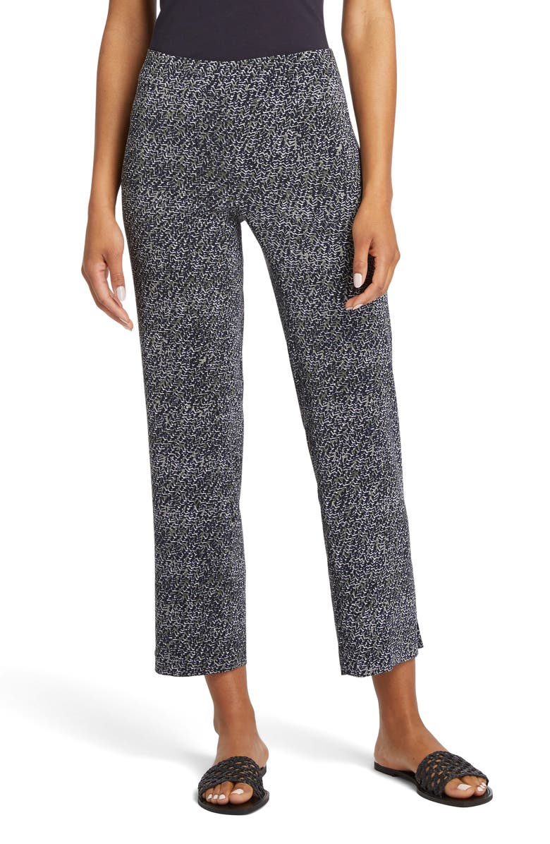 NIC+ZOE Twisted Vines Pants, Main, color, MULTI