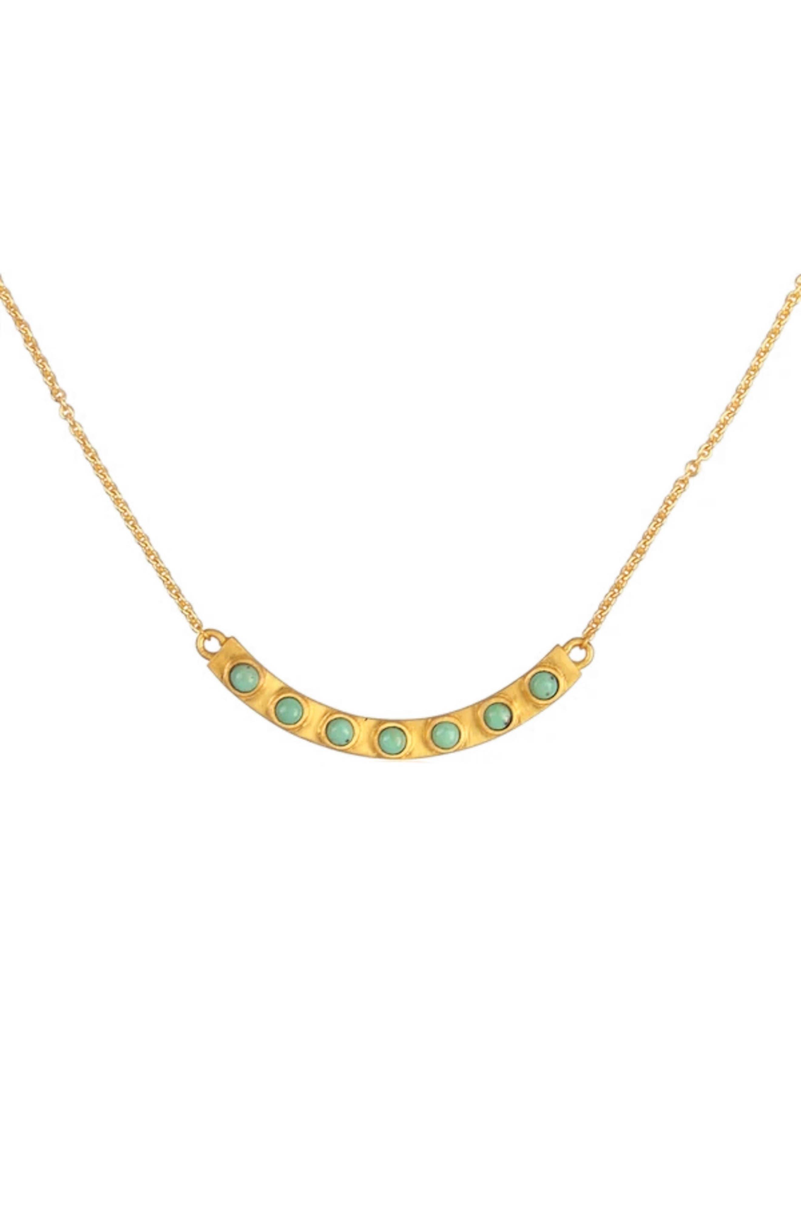 Turquoise Bar Pendant Necklace
