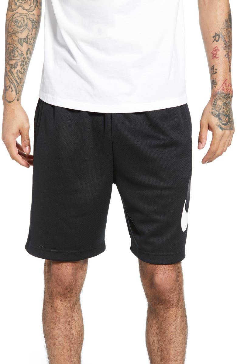 NIKE SB Sunday Active Shorts, Main, color, BLACK/ WHITE