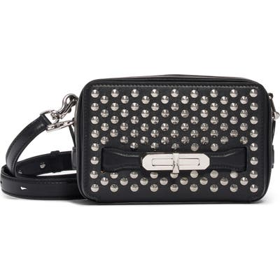 Alexander Mcqueen Small The Myth Studded Leather Camera Bag - Black