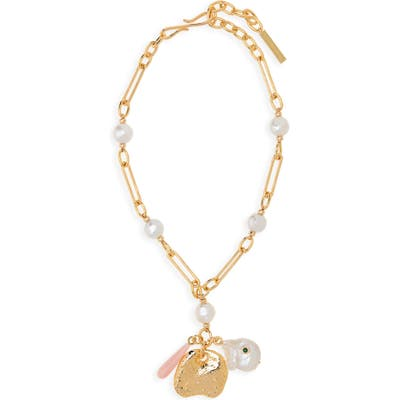 Lizzie Fortunato Holiday Charm Necklace