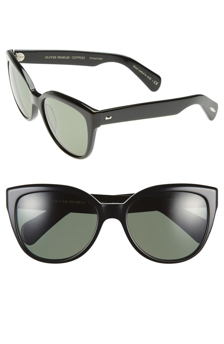 OLIVER PEOPLES 'Abrie' 58mm Polarized Cat Eye Sunglasses, Main, color, 001