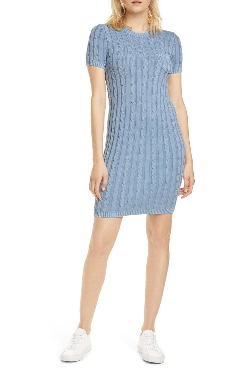 POLO RALPH LAUREN Cotton Cable Sweater Dress, Main, color, 450
