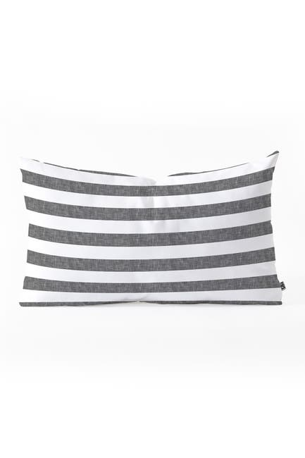 Image of Deny Designs Little Arrow Design Co Stripes in Grey Oblong Throw Pillow