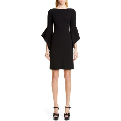 Michael Kors Drape Sleeve Sheath Dress, Black