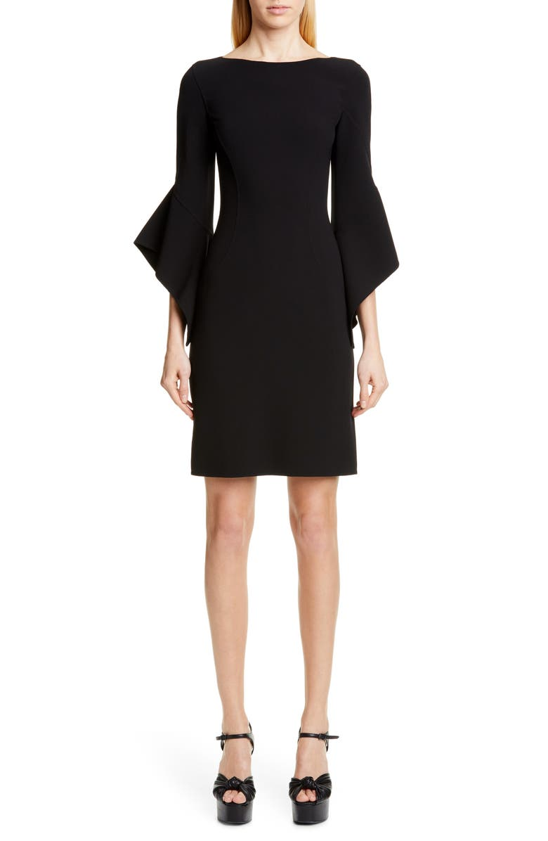 MICHAEL KORS COLLECTION Michael Kors Drape Sleeve Sheath Dress, Main, color, BLACK
