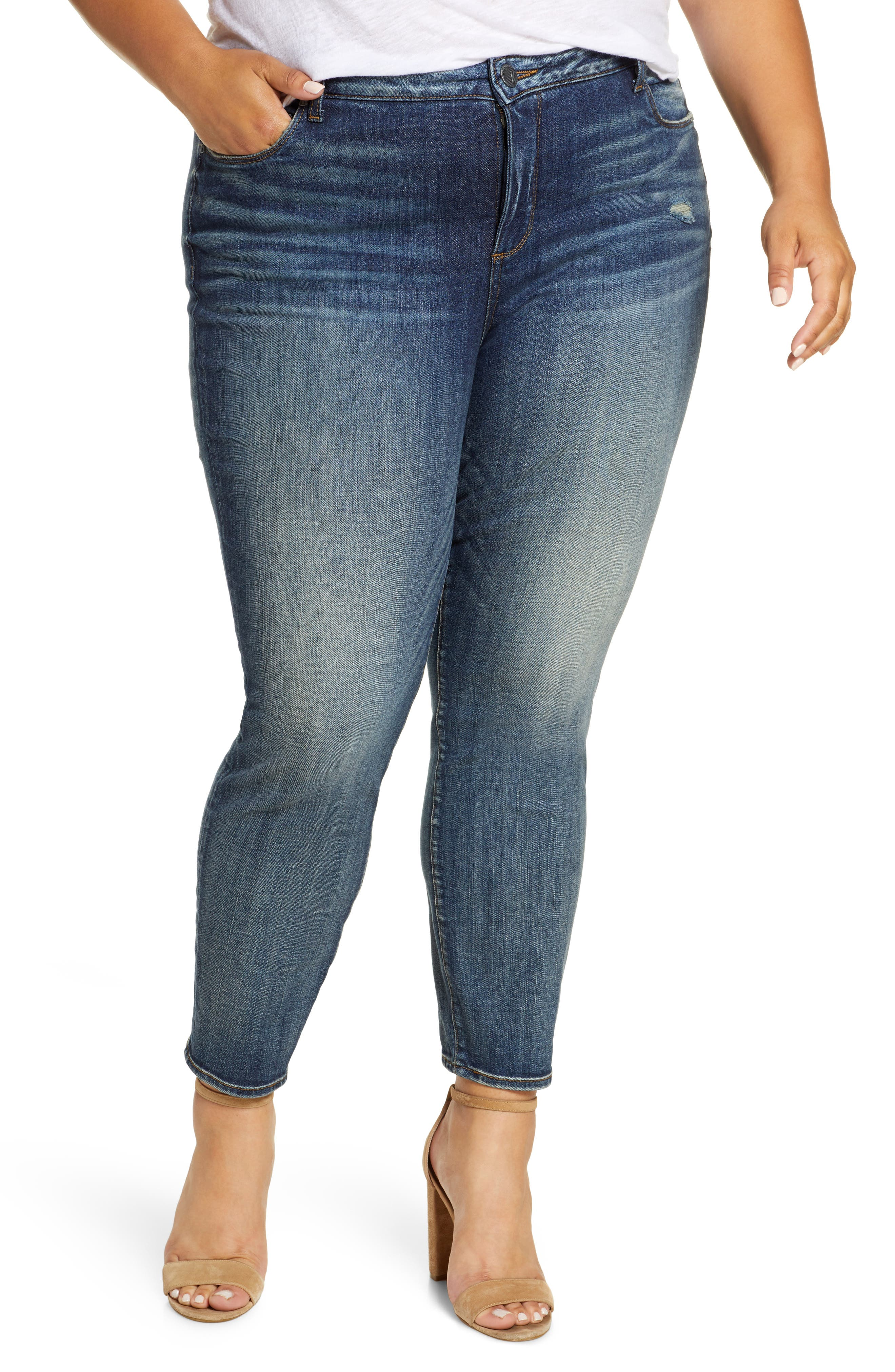 KUT From the Kloth Reese High Waist Straight Leg Jeans (Program) (Plus Size)