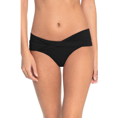Robin Piccone Ava Twist Hipster Bikini Bottoms, Black