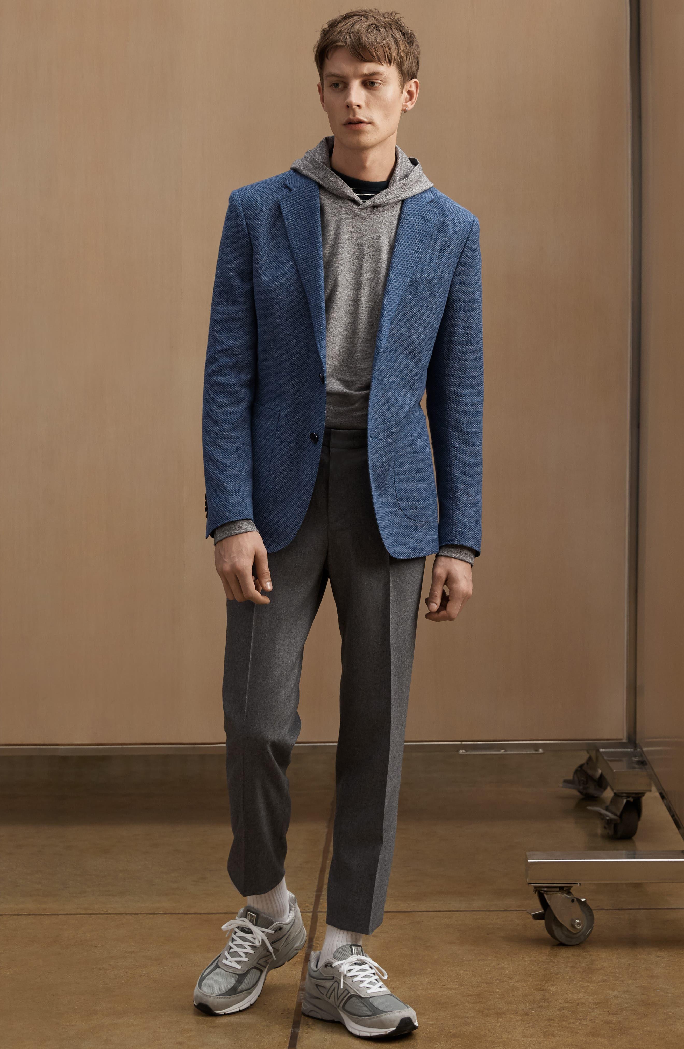 ,                             Fife Street Wool Blend Blazer,                             Alternate thumbnail 9, color,                             MARINE