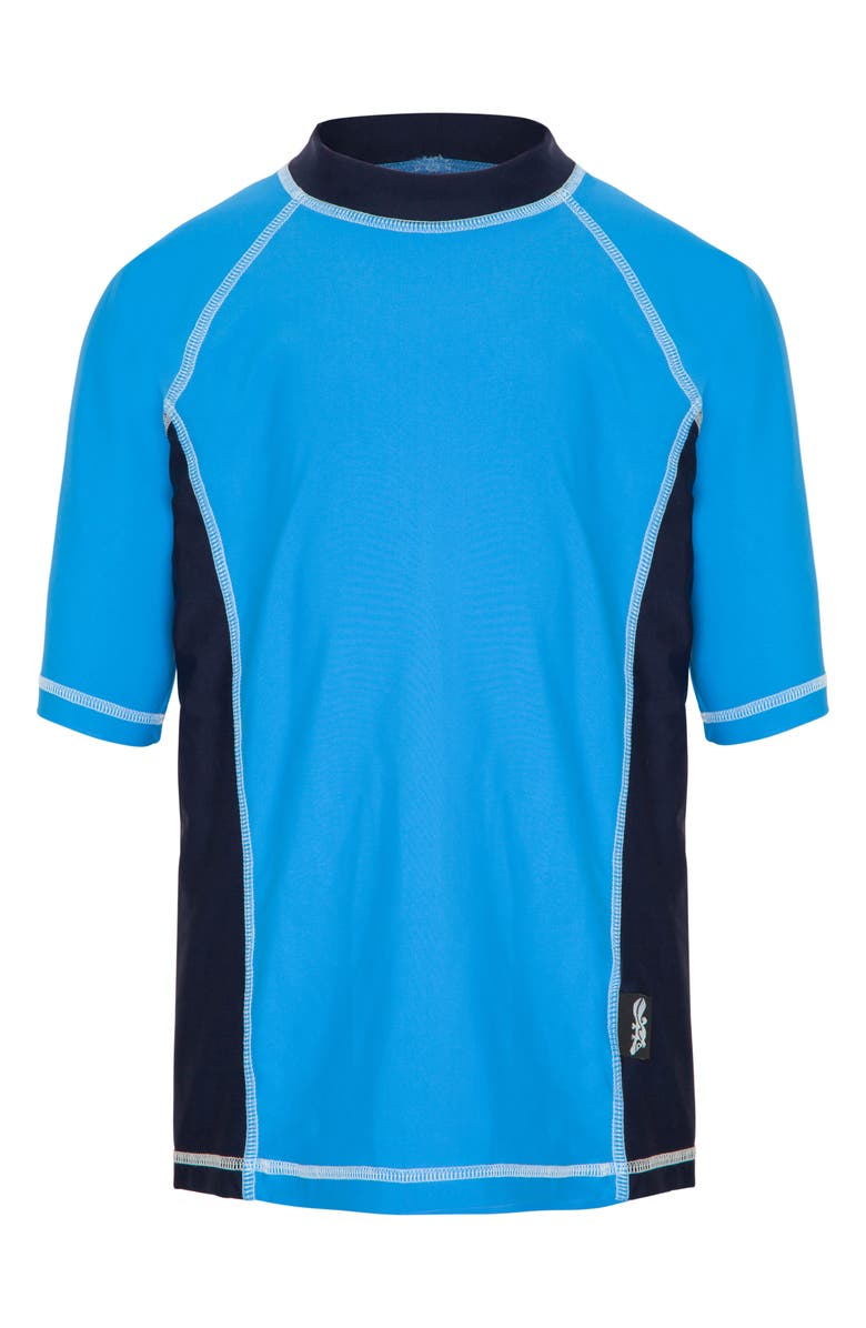 PLATYPUS AUSTRALIA Short Sleeve Rashguard, Main, color, OCEAN