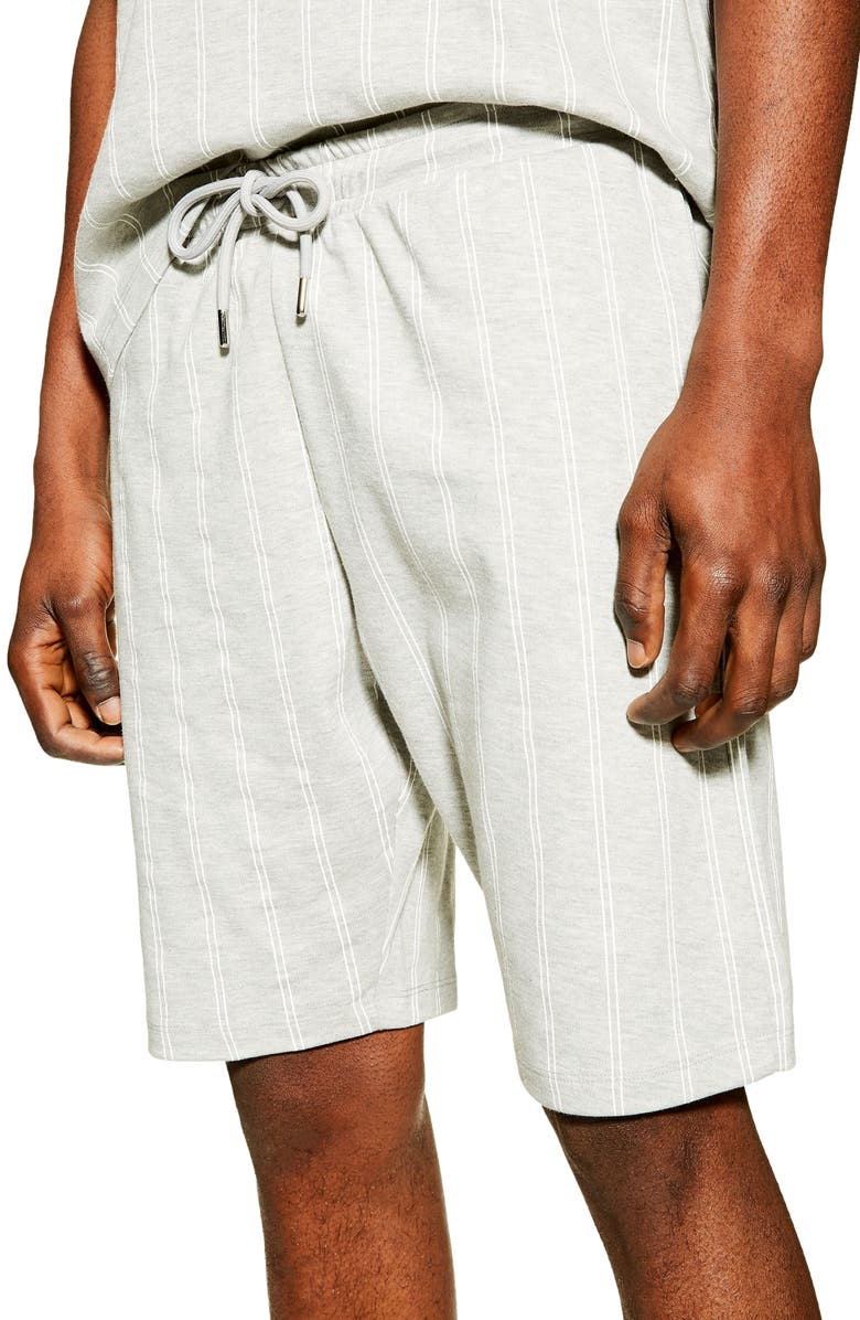 TOPMAN Co-Ord Stripe Classic Shorts, Main, color, GREY MULTI
