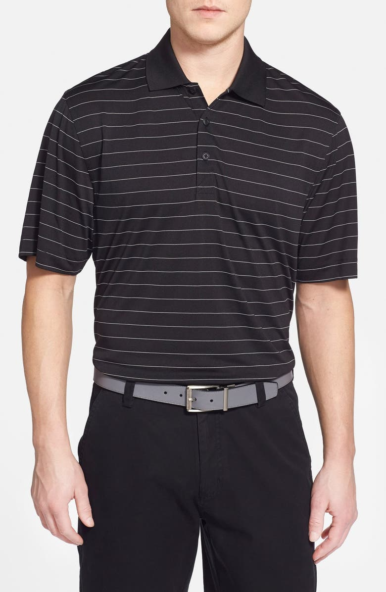 CUTTER & BUCK Franklin Stripe DryTec<sup>®</sup> Polo, Main, color, BLACK/ WHITE