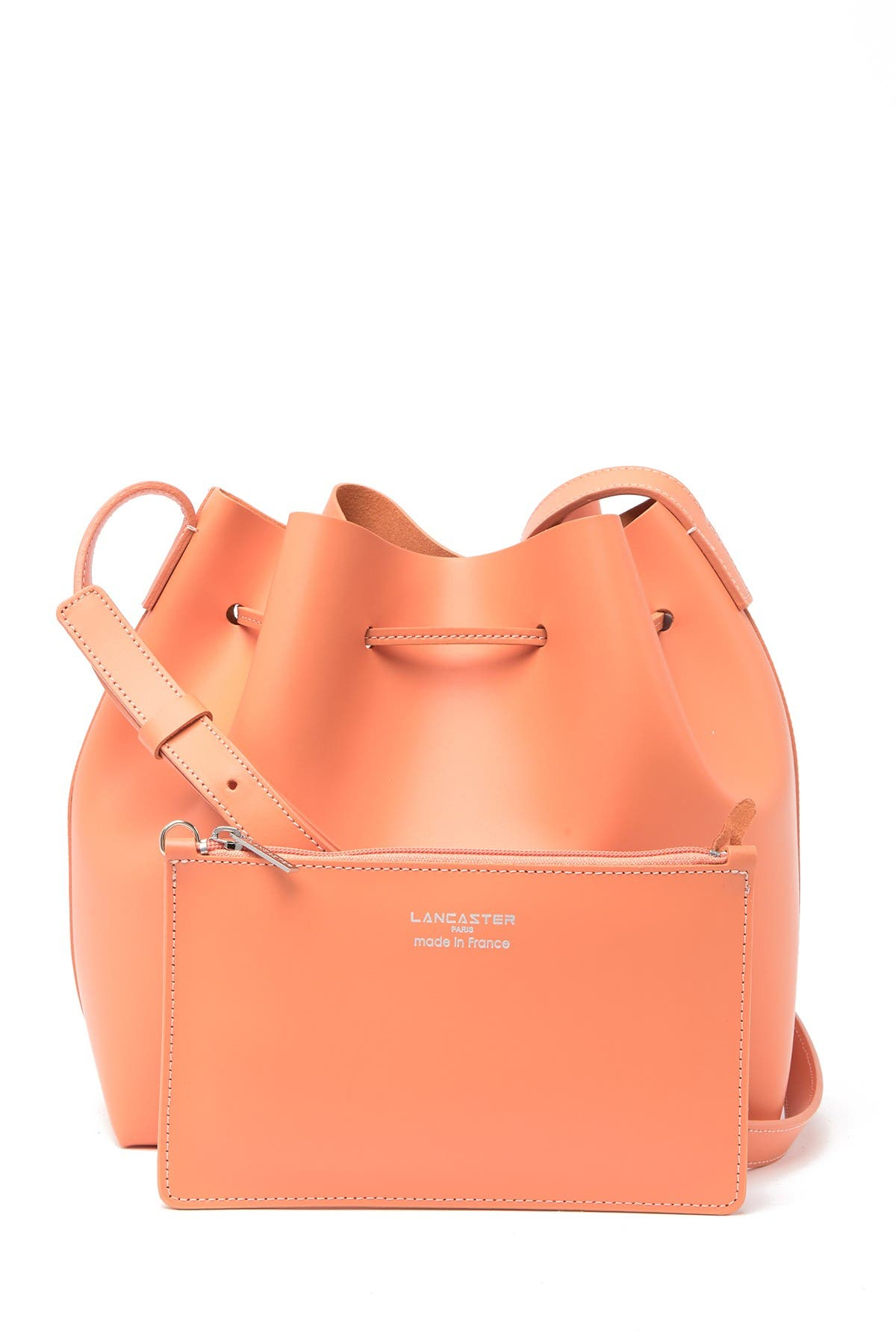 Image of Lancaster Paris Matte Smooth Leather Bucket Bag & Pouch