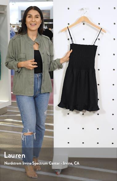 Rouen Smocked Minidress, sales video thumbnail