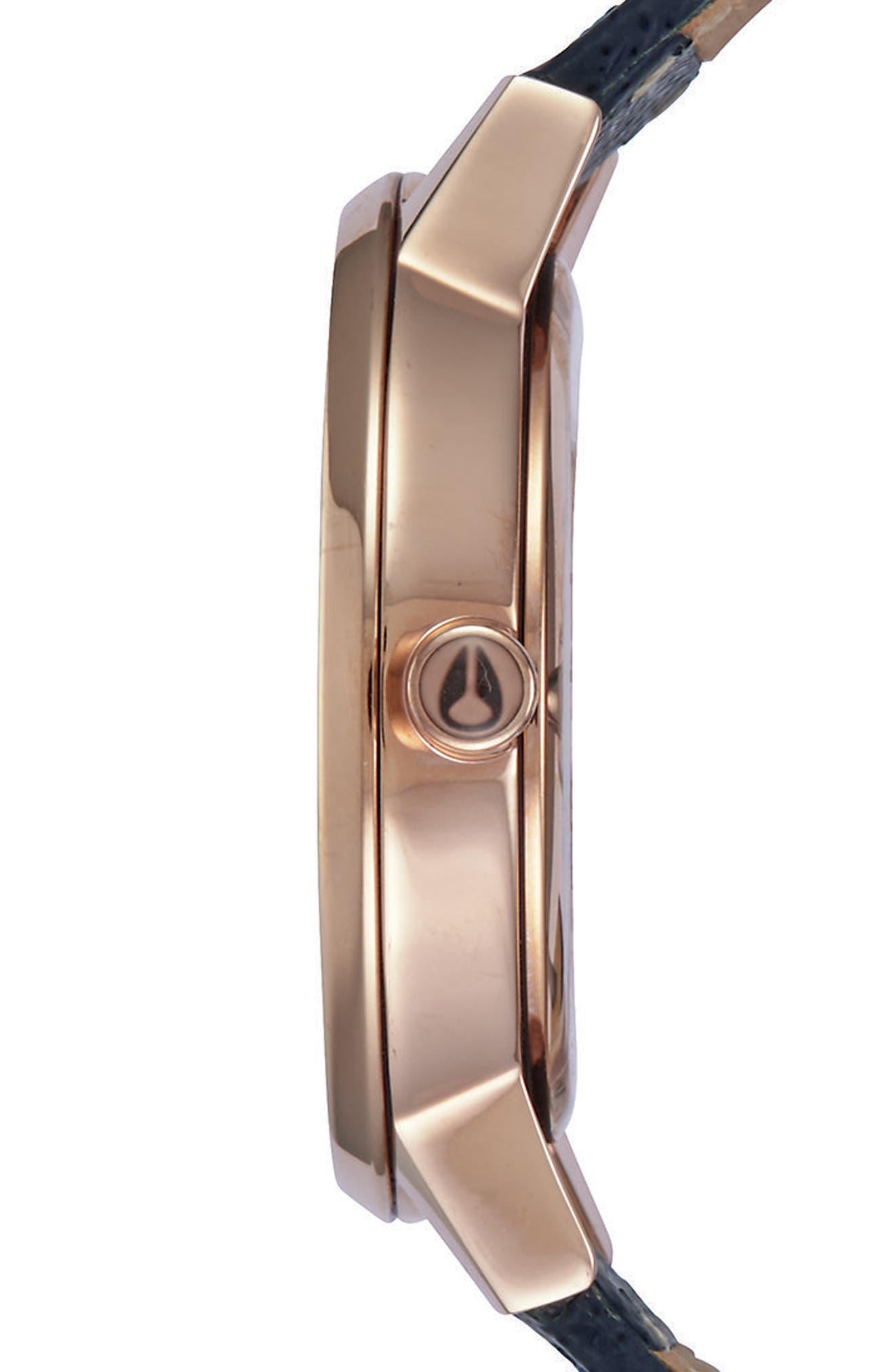 ,                             'The Kensington' Leather Strap Watch, 37mm,                             Alternate thumbnail 38, color,                             401